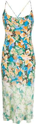 M Missoni Floral Print Midi Dress