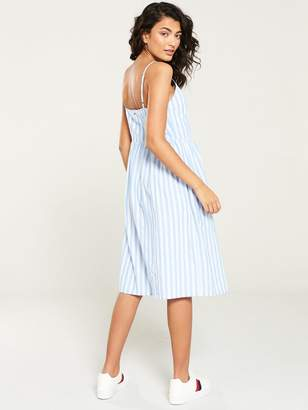 Tommy Jeans Summer Stripe Strap Dress - Blue Stripe