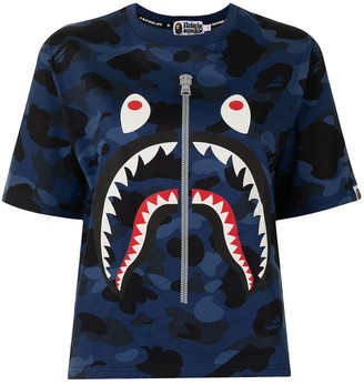 A Bathing Ape camouflage Shark Stripe T-shirt