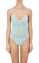She Made Me Women's Sana Cotton One-Piece Swimsuit-TURQUOISE