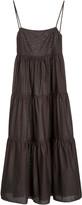 Matteau Tiered Cotton-Gauze Maxi Dress