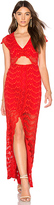 Nightcap Clothing Mariposa Cutout Maxi Dress in Red. - size 1 (also in 2)