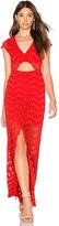 Nightcap Clothing Mariposa Cutout Maxi Dress in Red