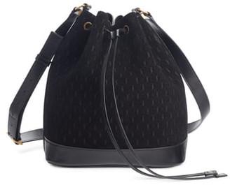 Saint Laurent Monogramme Calfskin Suede Bucket Bag