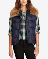 Denim & Supply Ralph Lauren Faux-Fur-Trim Puffer Down Vest