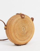 Asos Design DESIGN Emma Circular rattan cross body bag