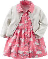 Carter's 2-pc. Short-Sleeve Dress & Cardigan Set - Baby Girls newborn-24m