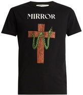 Off-White Snake and Mirror-print cotton-jersey T-shirt