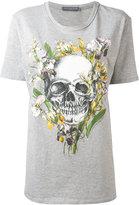 Alexander McQueen skull print boyfriend T-shirt - women - Cotton - 38