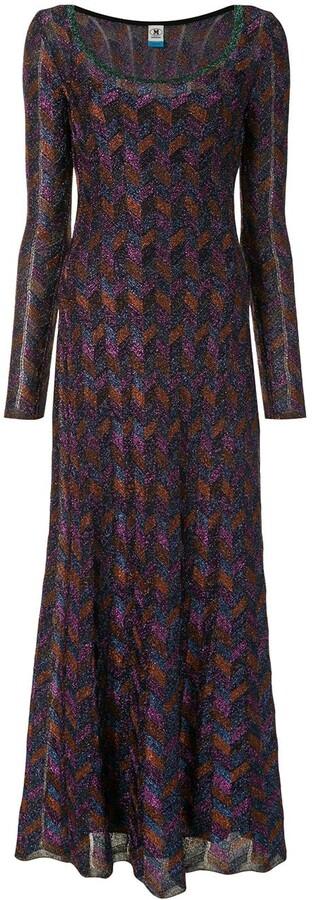 M Missoni Geometric Shimmer Dress