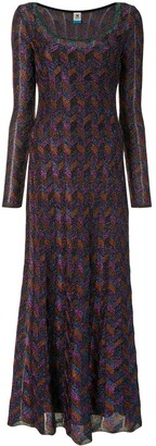 M Missoni Geometric Shimmer Dress