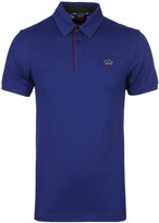 Paul & Shark Royal Blue Pique Polo Shirt