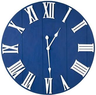 William Blue Wood Wall Clock