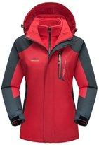 Modern Fantasy Womens Convertible 3 in 1 Mountain Outdoor Ski Fleece Down Jacket Size US M