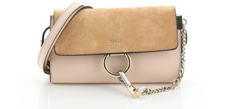 Chloé Faye Shoulder Bag Leather and Suede Mini