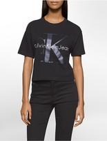 Calvin Klein Logo Cropped T-Shirt