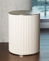 Design Studio Form By Global Views Camille Leather Side Table