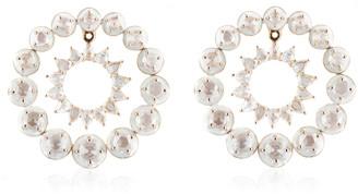 Kamyen 18K White Gold Orrbit Earring