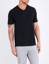 HUGO BOSS V-neck pack of three cotton-jersey t-shirts