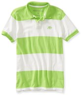 Aeropostale Mens A87 Stripe Rugby Polo Shirt L