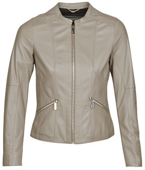 Oakwood KEREN women's Leather jacket in Grey