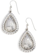 Simon Sebbag Women's Leaf Pattern Teardrop Earrings