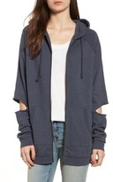 Treasure & Bond Women's Slashed Sleeve Hoodie