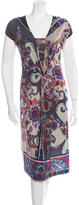 Etro Wool Floral Print Dress