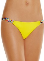 Red Carter Friendship Bracelet Spring Braided Side Bikini Bottom