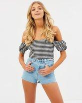 Bardot Rigid High Rise Shorts