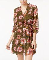 XOXO Juniors' Printed Tiered Peplum Dress
