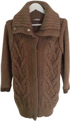 Stefanel Brown Wool Coats