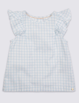 Marie Chantal Marie-chantal Girls Woven Check Top (3 Months - 5 Years)