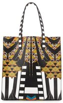 Givenchy Medium Wings & Stripes Canvas Tote Bag, Black/Multi