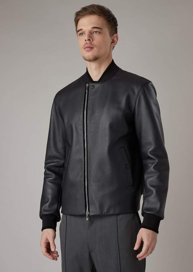 a9faa6b336 Nappa Lambskin Jacket With A Mesh Effect Fabric