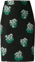 Roseanna floral pattern pencil skirt - women - Cotton/Polyamide - 36