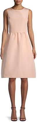 Oscar de la Renta Sleeveless Silk Flare Dress