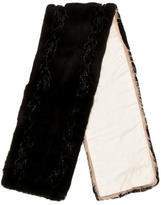 Prada Embellished Fur Shawl