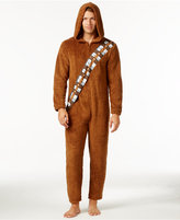 Briefly Stated Star Wars Men's Chewbacca Hooded One-Piece Pajamas from