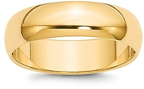 Bloomingdale's Men's 6mm Half Round Band Ring in 14K Yellow Gold - 100% Exclusive