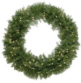 """Northlight 36"""" Pre-Lit Northern Dunhill Fir Artificial Christmas Wreath - Warm Clear LED Lights"""