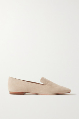 PORTE & PAIRE Suede Loafers - Beige