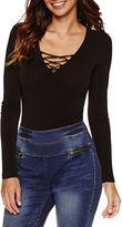 Bisou Bisou Lace Up Bodysuit