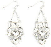 Charlotte Russe Dangling Rhinestone Cluster Earrings