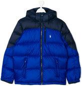 Ralph Lauren teen color block padded jacket