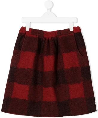 Touriste TEEN check pattern skirt