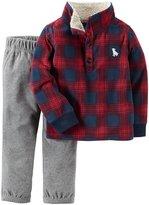 Carter's 2 Piece Sweater Set - Plaid - Newborn