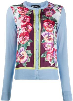 Dolce & Gabbana Hibiscus Print Cardigan