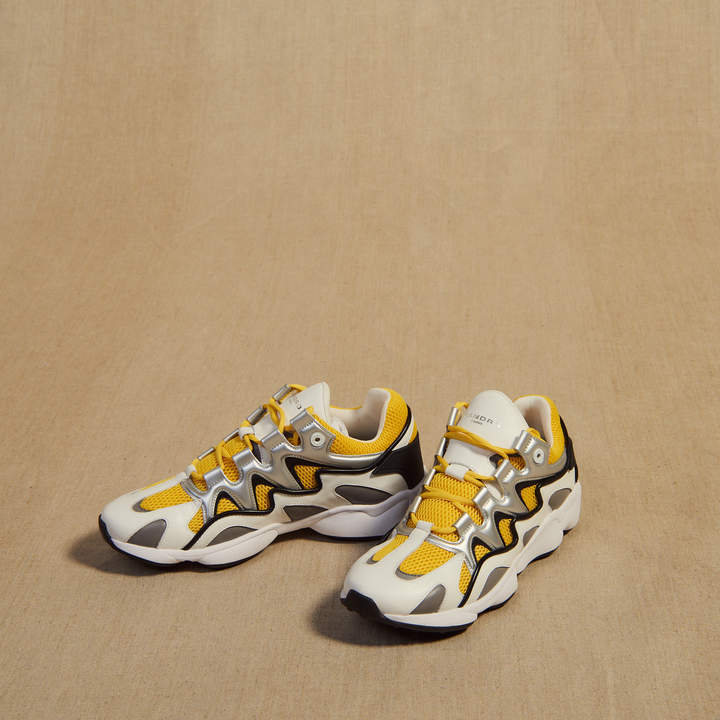 Sandro Material mix sneakers