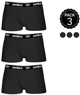 Umbro Men's Set De 3 Boxers (3negros) -100% Algodón-Color (x3) Shorts, Black (Negro), XX-Large